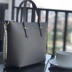 Kate spade gray shoulder bag/ hand bag